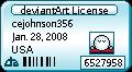 CJs Deviant License by cejohnson356
