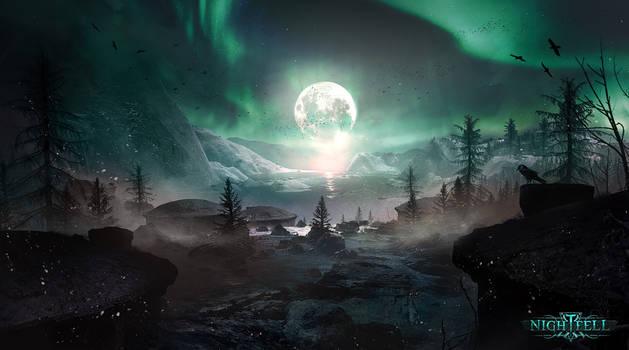 Frozen landscape - Nightfell