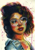 Girl in glasses by umantsiva