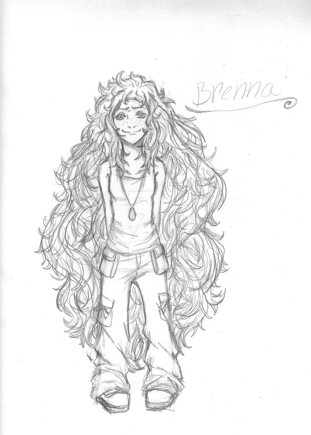 Brenna-chan and her hair! by empressofcheese