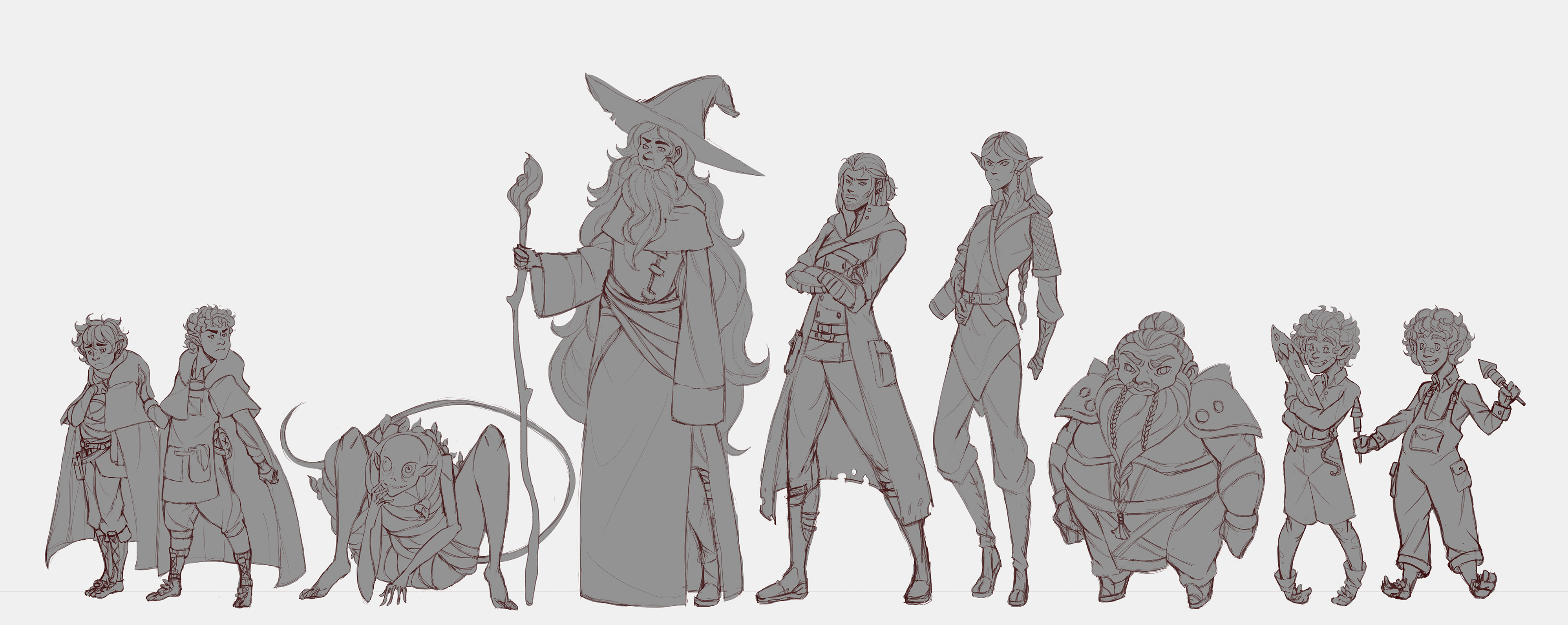 Character Design Practice : Lord of the rings character design practice by