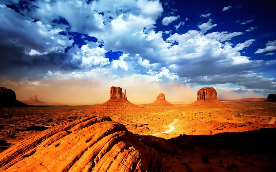 Monumental Desert Wallpaper by IzabelMarrupho