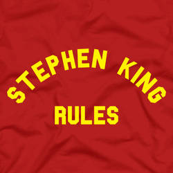 STEPHEN KING RULES (Monster Squad shirt design) by IzabelMarrupho