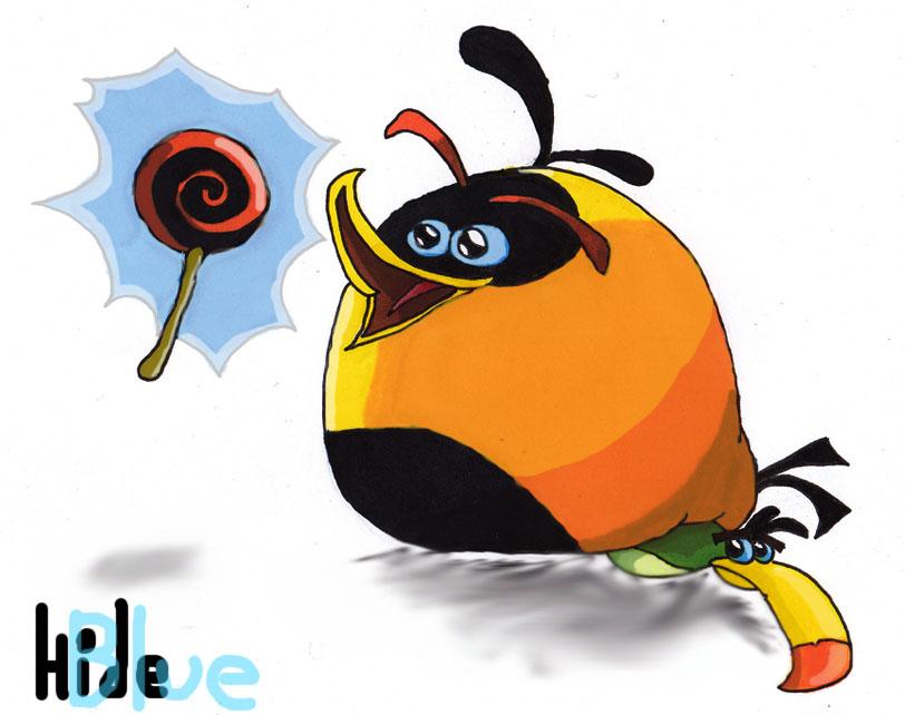 Orange Bird by Blue-hide