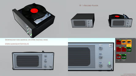 70s Record Player, FREEBIE for Daz Studio IRAY