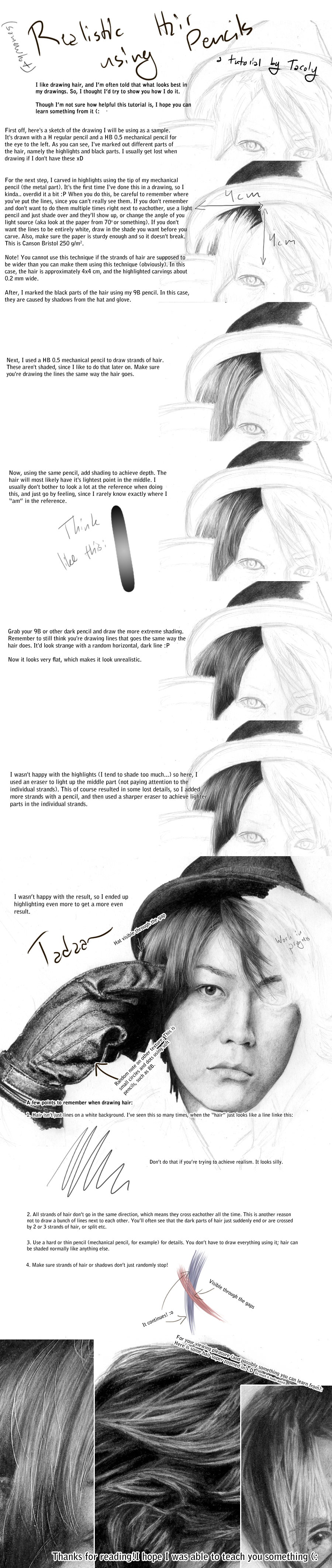 Pencil hair tutorial by tacoly on deviantart