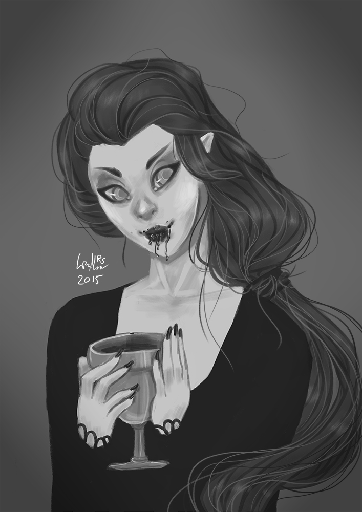 Monster Girls: Day 3 Vampire by Anolee