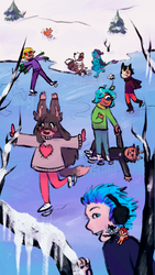 Arctic Fight: Skating by Anolee