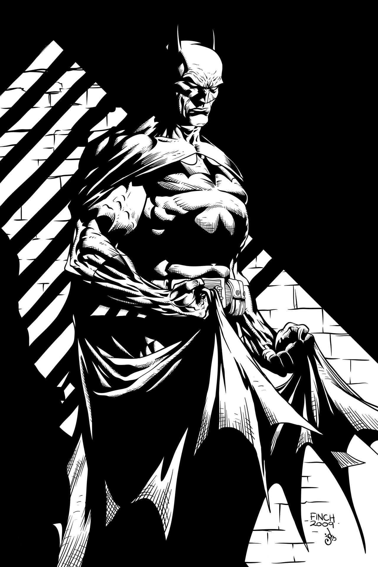 Line Art Comic : Batman by finch joeydes on deviantart