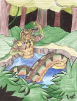 Naga: Asphiter Bathing by Legendary-Wolven