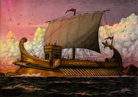 Roman Galley Color by joaoMachay