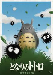 Totoro Poster by joaoMachay