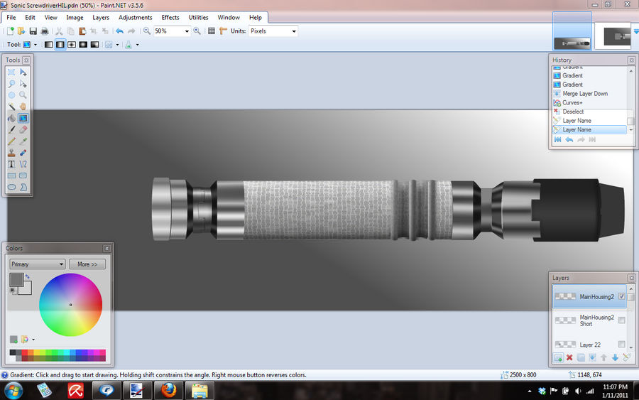 Sonic Screwriver WIP Day 3
