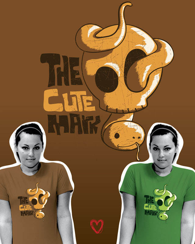 .: cute mark tee :. by monito