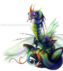 Insect dragon by Kuroi-kisin