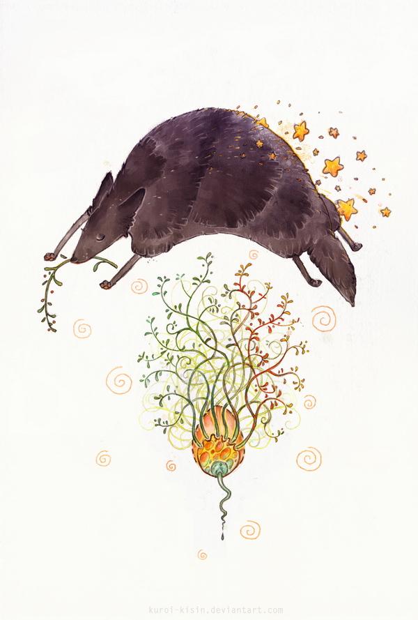 Night Wolf by Kuroi-kisin