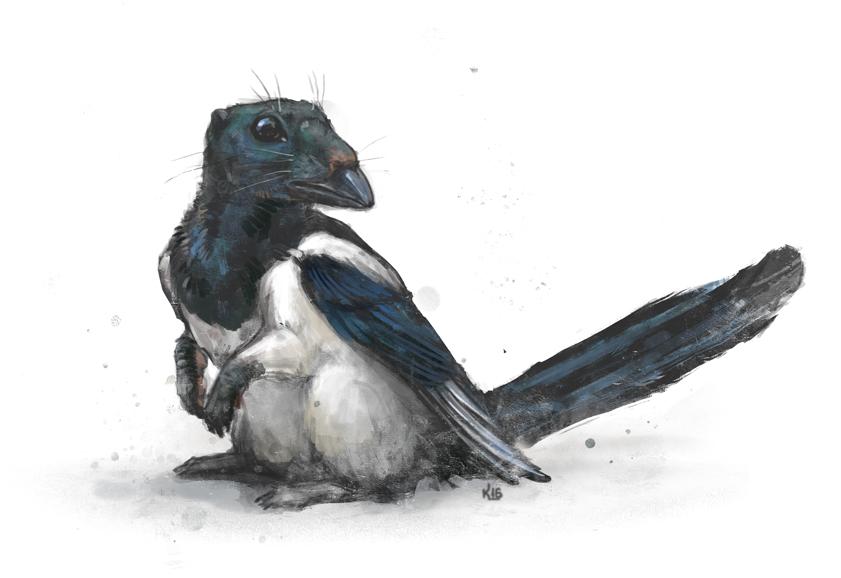 Spermophilus pica by Kuroi-kisin