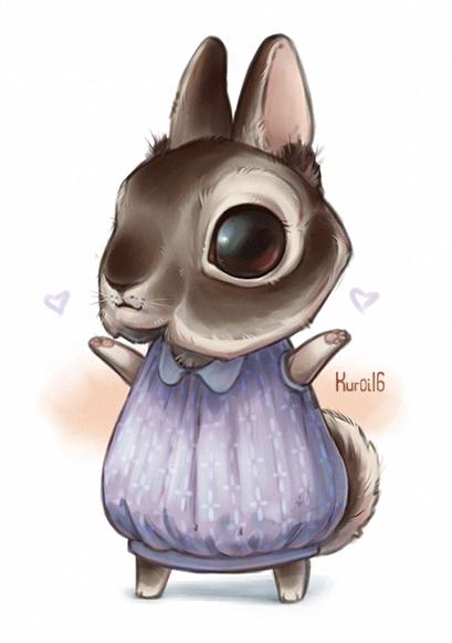 Chibi Bunny by Kuroi-kisin