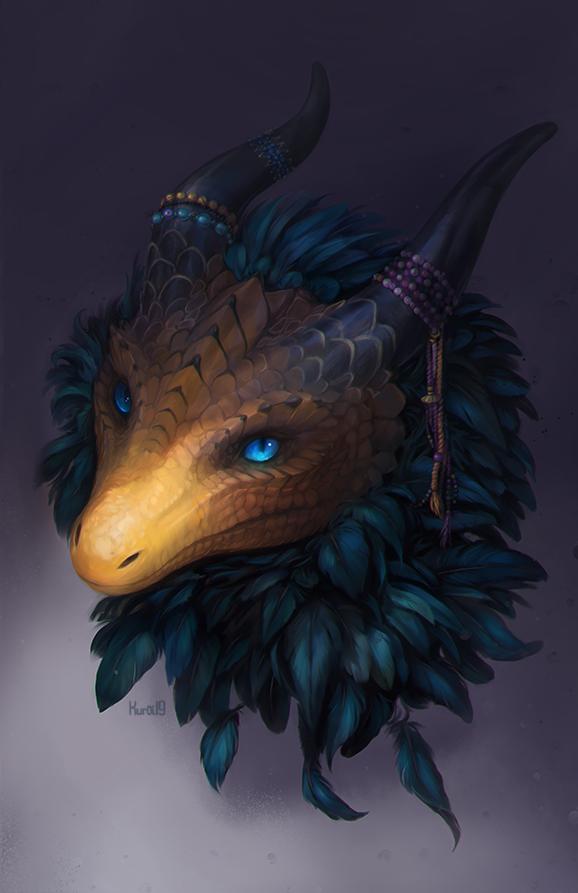 Comm: Blue eyes by Kuroi-kisin