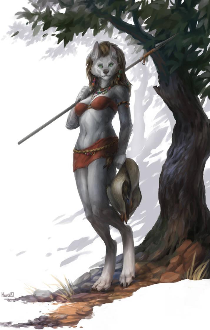 Comm: Lucky hunter by Kuroi-kisin