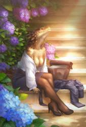 Comm: Alone with the sun by Kuroi-kisin