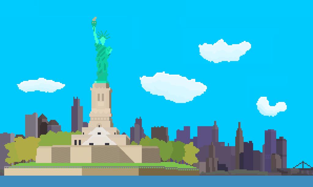 Nueva york y la estatua de la libertad. by JosplosionPlus