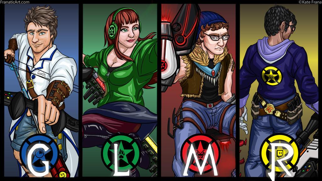 Achievement Huntsmen: Team GLMR by FranaticArt on DeviantArt Achievement Hunter Comic Poster