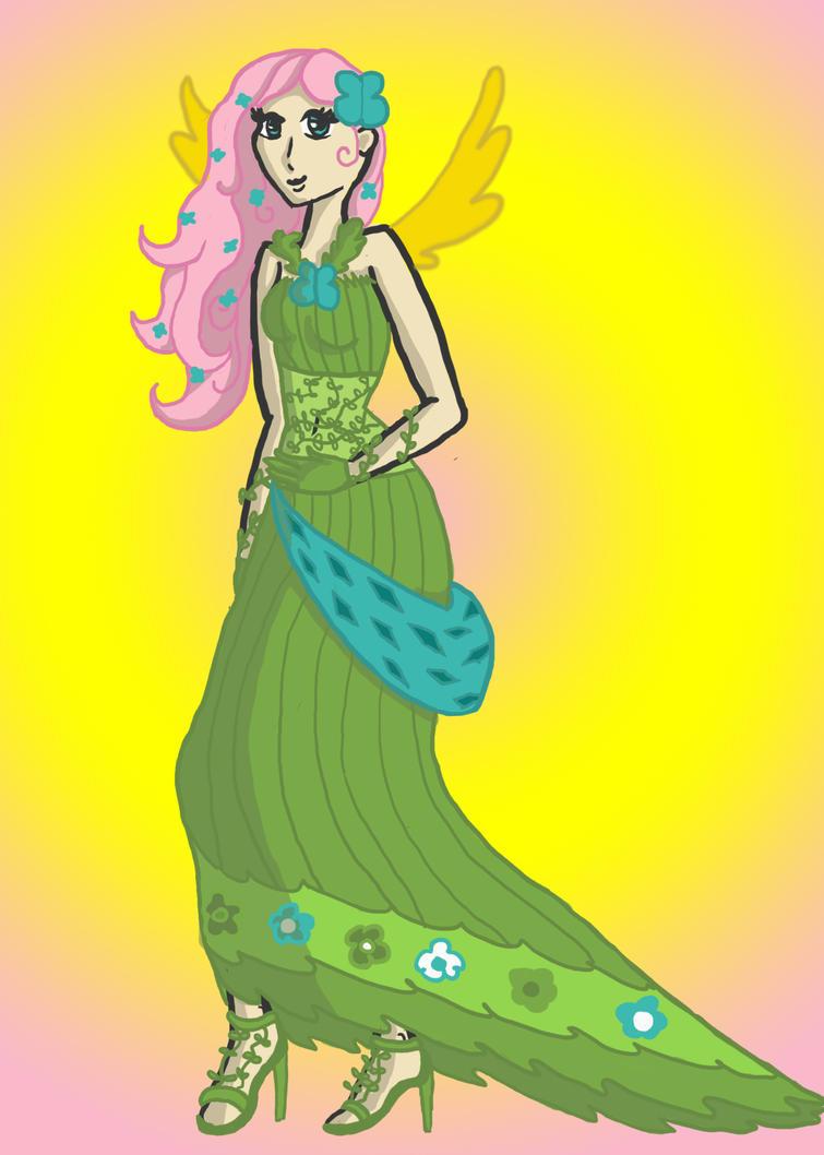 fluttershy dashs human gala dress by monakaliza on deviantart