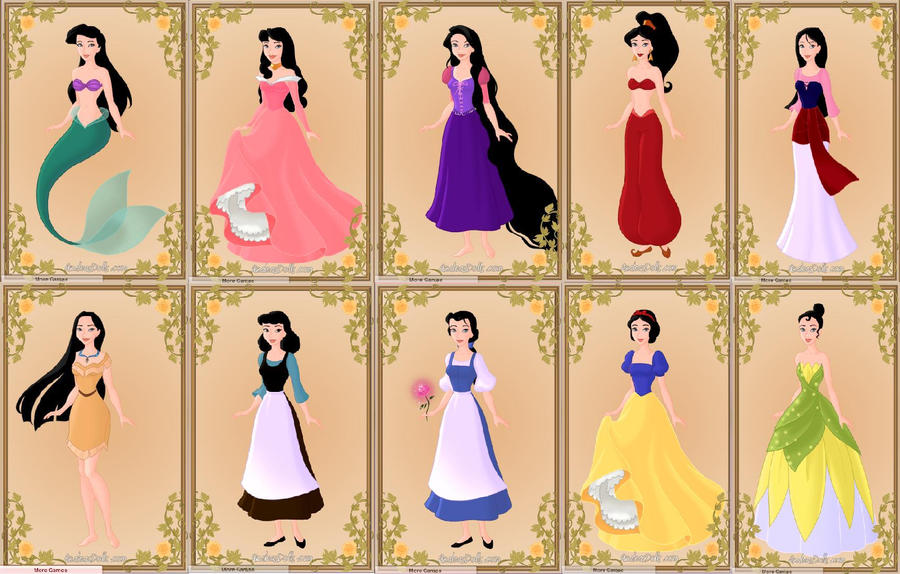 Munchie as Disney Princesses by PrincessHannahBee on DeviantArt