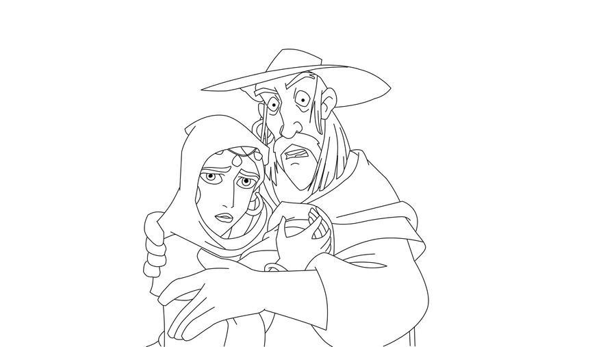 Quasimodos Parents Coloring Page By PrincessHannahBee