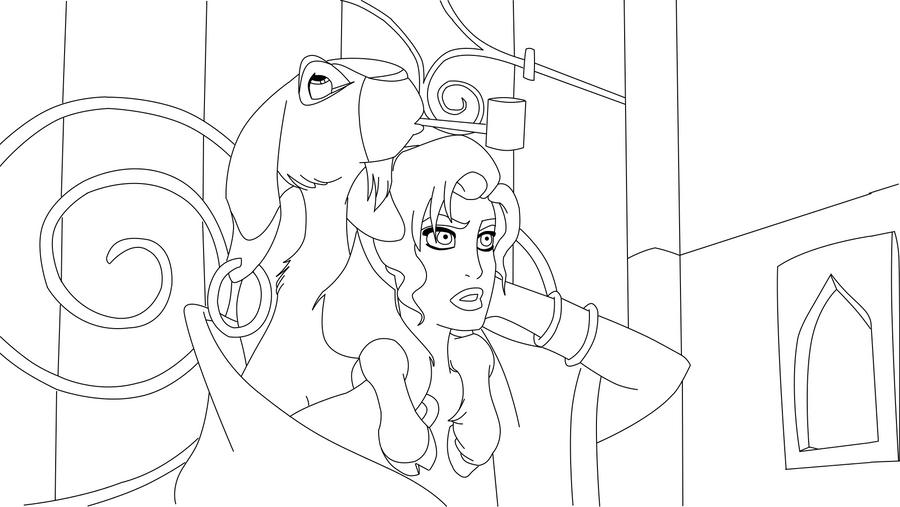 Esmeralda And Djali Coloring Page By PrincessHannahBee