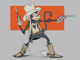 Cowboy Monkey by Lawnz