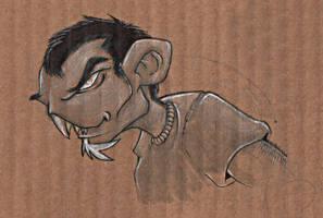 Buck-tooth vampire... by Lawnz