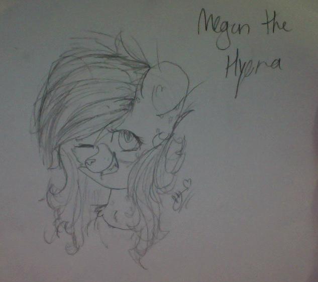 Megan the Hyena by HyenaHeartArt