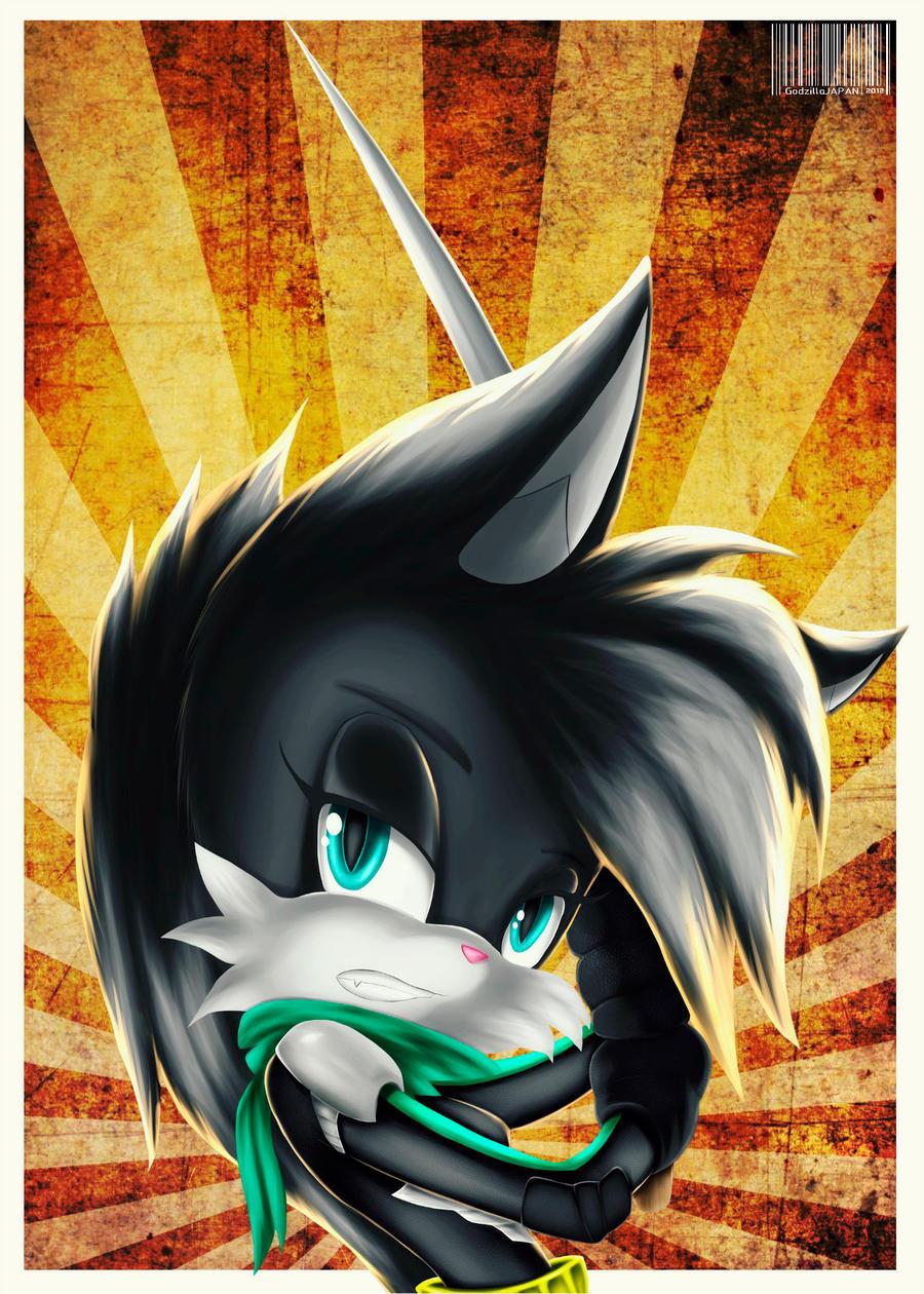 Comm: Luna the Cat by GodzillaJAPAN