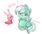 Lyra Heartstrings says ''Hi'' to Humans.