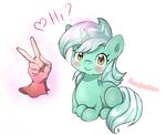Lyra Heartstrings says ''Hi'' to Humans.