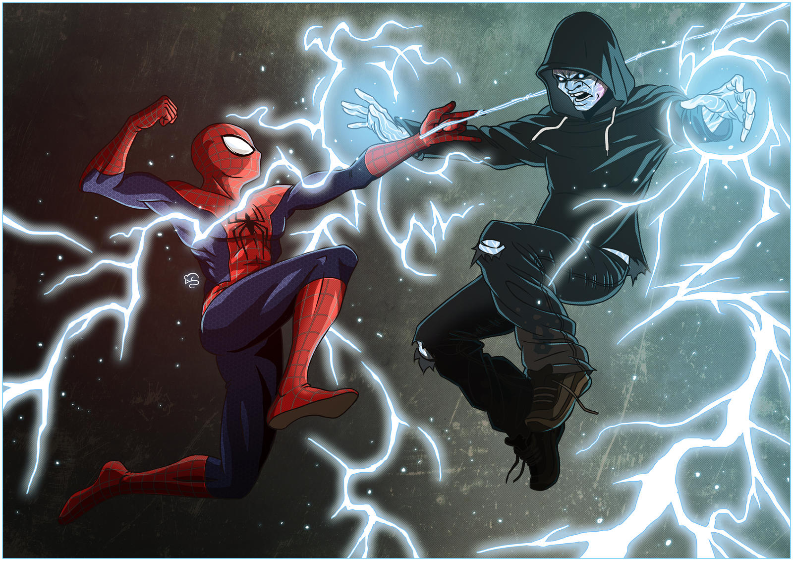 Spidey vs Electro by T...