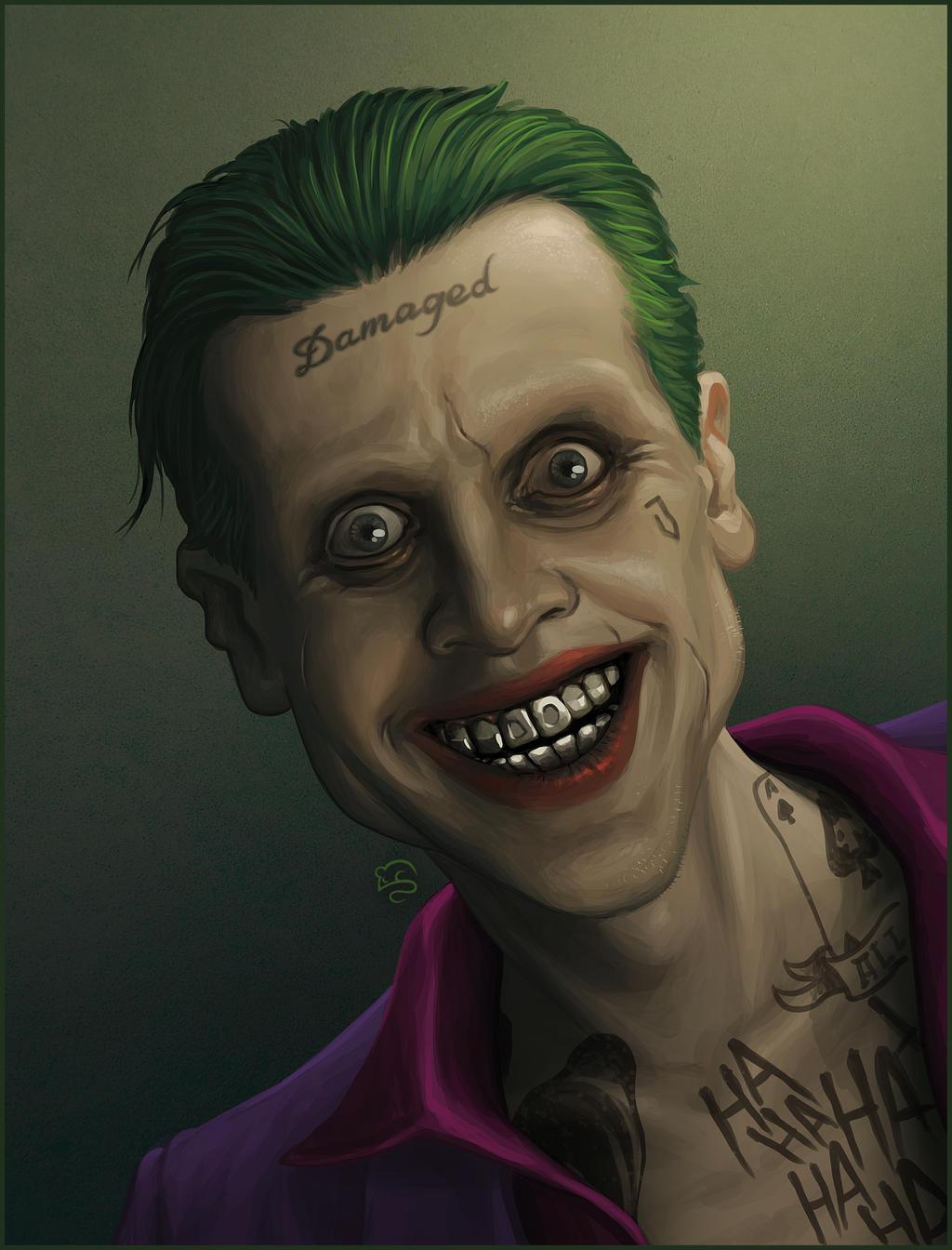 Jared leto 39 s joker by tovmauzer on deviantart for Joker damaged tattoo