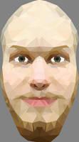 Ole Krokmo Low Polygon Portrait + speed art by EirikStrand1996