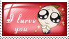 I lurve you by Yasny-chanstamps