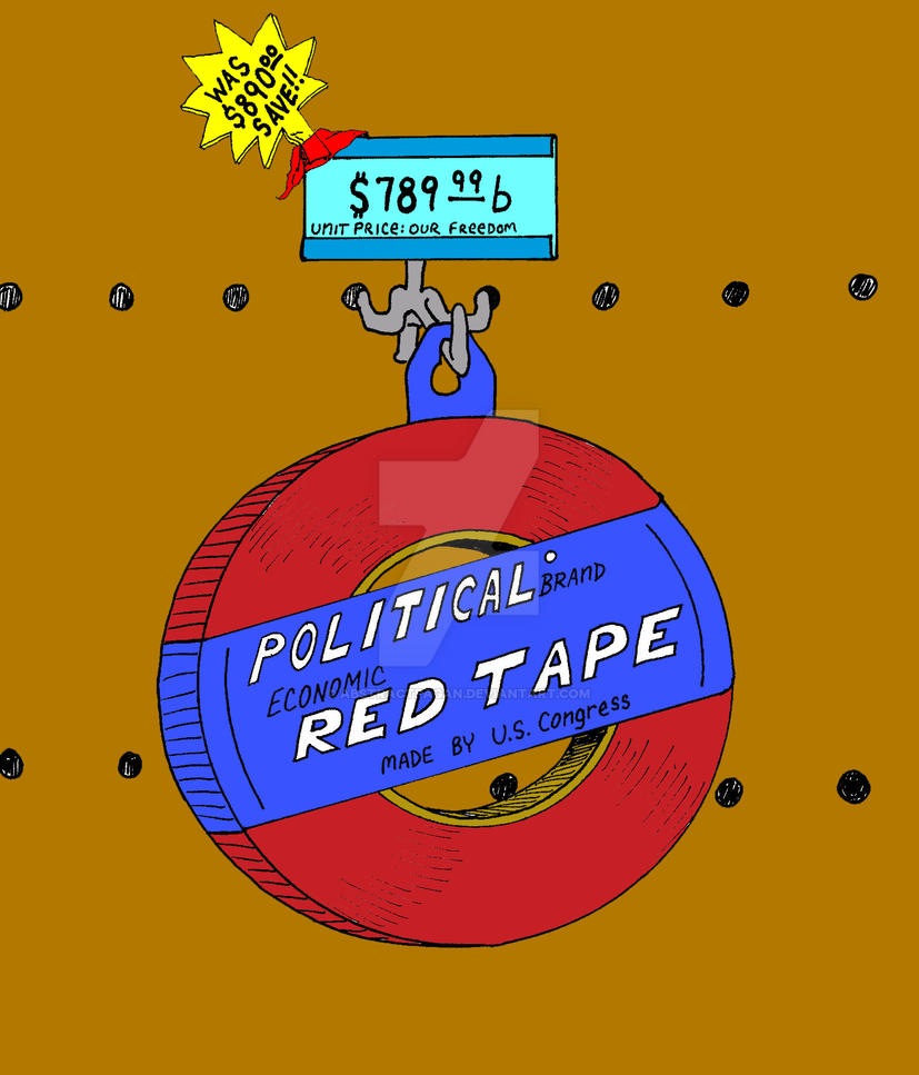 Politcal Brand Red Tape-Color by AbstractPagan