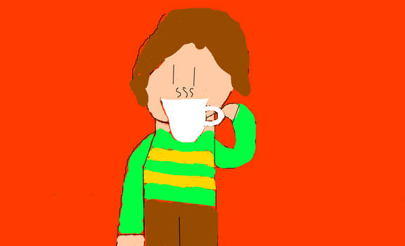 Chara Drinking Tea