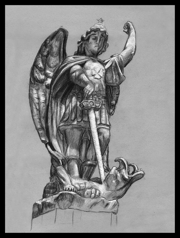 It's just a photo of Zany St Michael The Archangel Drawing