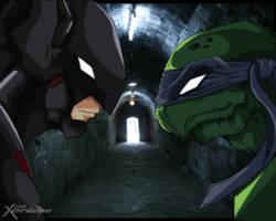 Batman VS Leonardo by xericho
