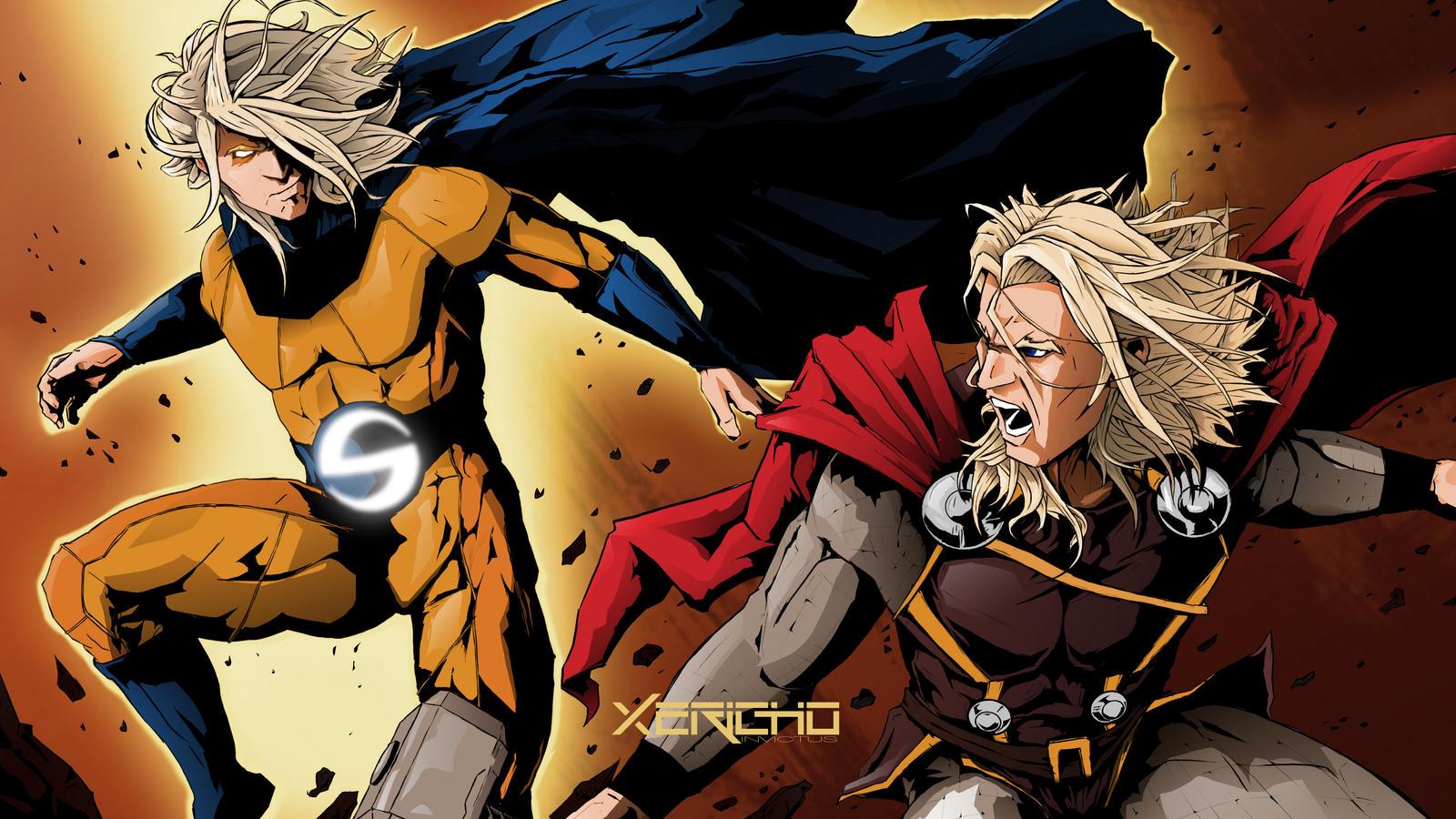 Sentry VS Thor by xericho on DeviantArt