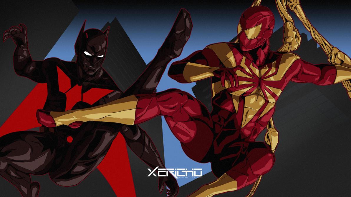 Batman Beyond VS Iron Spider-Man by xericho