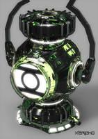 Green Lantern Power Battery by xericho