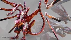 Titanbuster Iron Ghidorah by xericho