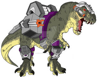 Dino-Riders T-Rex by BenjaminTDickens